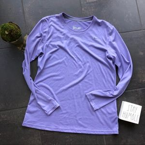 NIKE DRI-FIT Lilac Long Sleeve